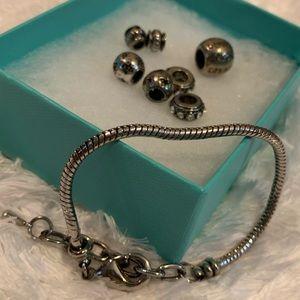 Snake chain charm bracelet
